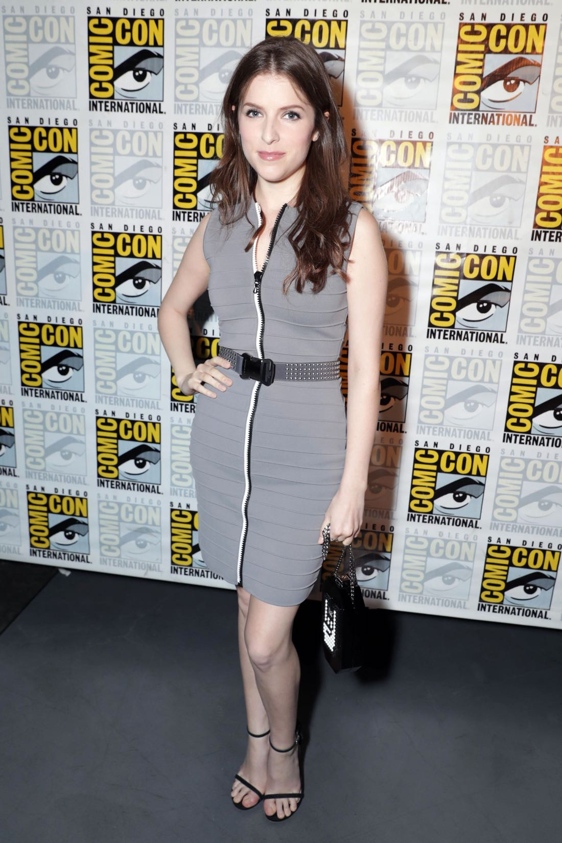 TROLLS voice actor Anna Kendrick backstage at DreamWorks Animation's Comic Con Hall H Panel.
