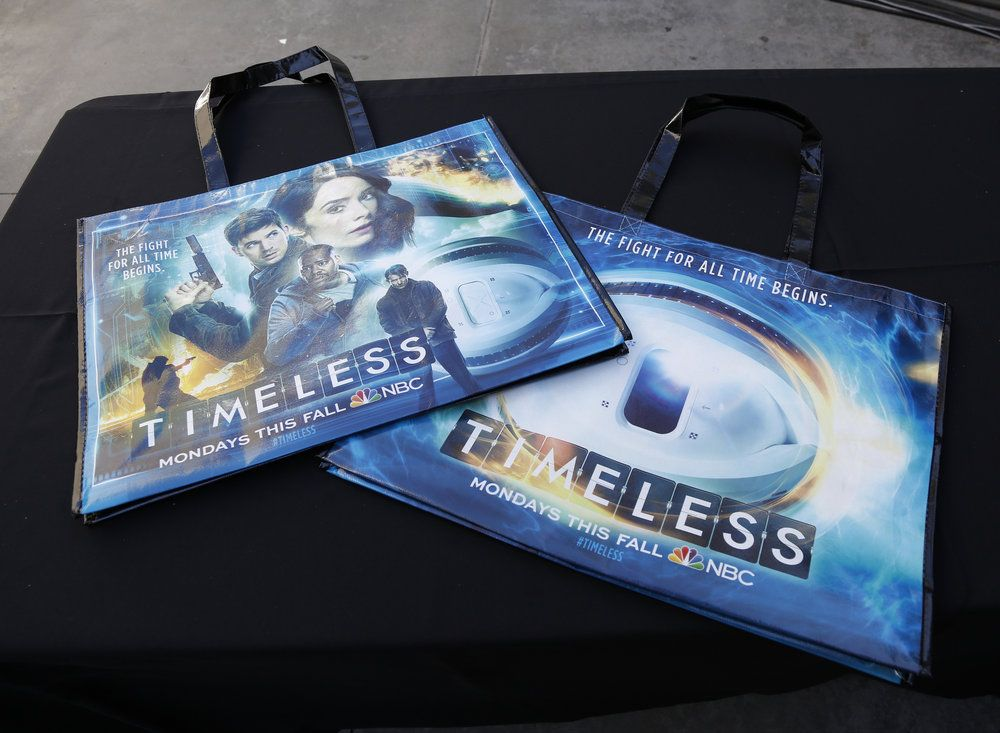"COMIC-CON INTERNATIONAL: SAN DIEGO 2016 -- ""NBC at Comic-Con"" -- Pictured: ""Timeless"" NBC Activation, Tin Fish, San Diego, Calif. -- (Photo by: Daniel Cristol/NBC)"
