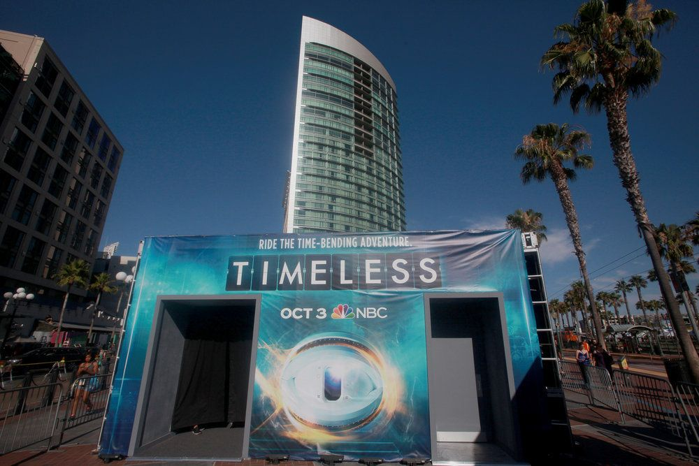 "COMIC-CON INTERNATIONAL: SAN DIEGO 2016 -- ""NBC at Comic-Con"" -- Pictured: ""Timeless""; NBC Activation at Tin Fish, San Diego, Calif. -- (Photo by: David Yeh/NBC)"