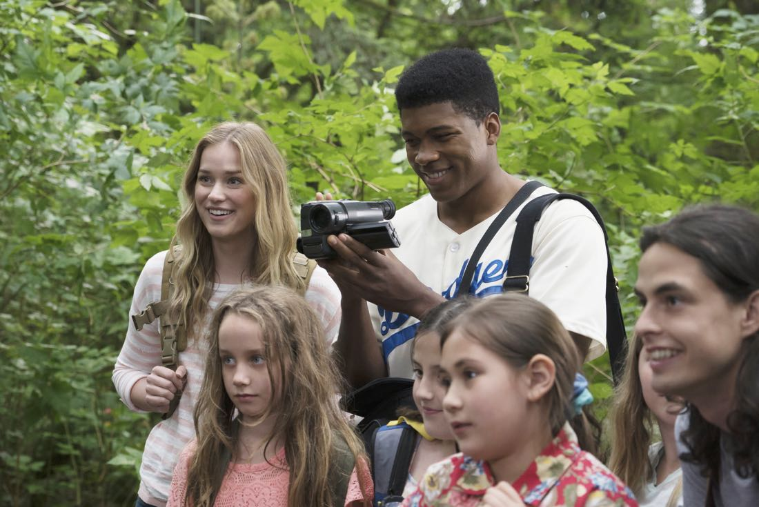 """DEAD OF SUMMER - """"How to Stay Alive in the Woods"""" - Joel has an eye-opening experience during the overnight camping excursion in """"How to Stay Alive in the Woods,"""" an all-new episode of """"Dead of Summer,"""" airing TUESDAY, JULY 26 (9:00 - 10:00 p.m. EDT), on Freeform. (Freeform/Katie Yu) ELIZABETH LAIL, ELI GOREE"""