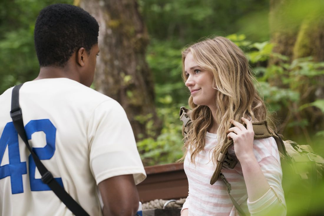 """DEAD OF SUMMER - """"How to Stay Alive in the Woods"""" - Joel has an eye-opening experience during the overnight camping excursion in """"How to Stay Alive in the Woods,"""" an all-new episode of """"Dead of Summer,"""" airing TUESDAY, JULY 26 (9:00 - 10:00 p.m. EDT), on Freeform. (Freeform/Katie Yu) ELIZABETH LAIL"""