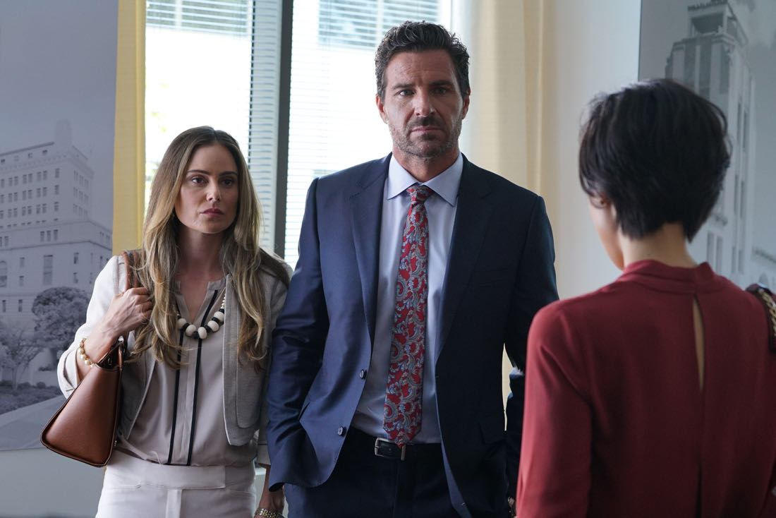 """MISTRESSES - """"""""Survival of the Fittest"""" - Alec threatens for full custody of Vivian, sending Karen into a panic. April and Marc find a condom in Lucy's jacket, forcing April to give """"the talk."""" Kate doesn't tell Joss and Harry about her new boyfriend, as it could have serious recuperations. Joss' actions put Jonathan's nephew in the hospital and later causes tension in her and Harry's relationship. Based on the hit U.K. television series of the same name, """"Mistresses"""" airs TUESDAY, AUGUST 2 (10:00-11:00 p.m. EDT), on the ABC Television Network. (ABC/Eric McCandless) AMANDA BROOKS, ED QUINN"""