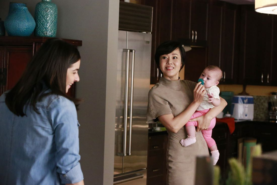 """MISTRESSES - """"""""Survival of the Fittest"""" - Alec threatens for full custody of Vivian, sending Karen into a panic. April and Marc find a condom in Lucy's jacket, forcing April to give """"the talk."""" Kate doesn't tell Joss and Harry about her new boyfriend, as it could have serious recuperations. Joss' actions put Jonathan's nephew in the hospital and later causes tension in her and Harry's relationship. Based on the hit U.K. television series of the same name, """"Mistresses"""" airs TUESDAY, AUGUST 2 (10:00-11:00 p.m. EDT), on the ABC Television Network. (ABC/Mitch Haaseth) ALANNA MASTERSON, YUNJIN KIM"""