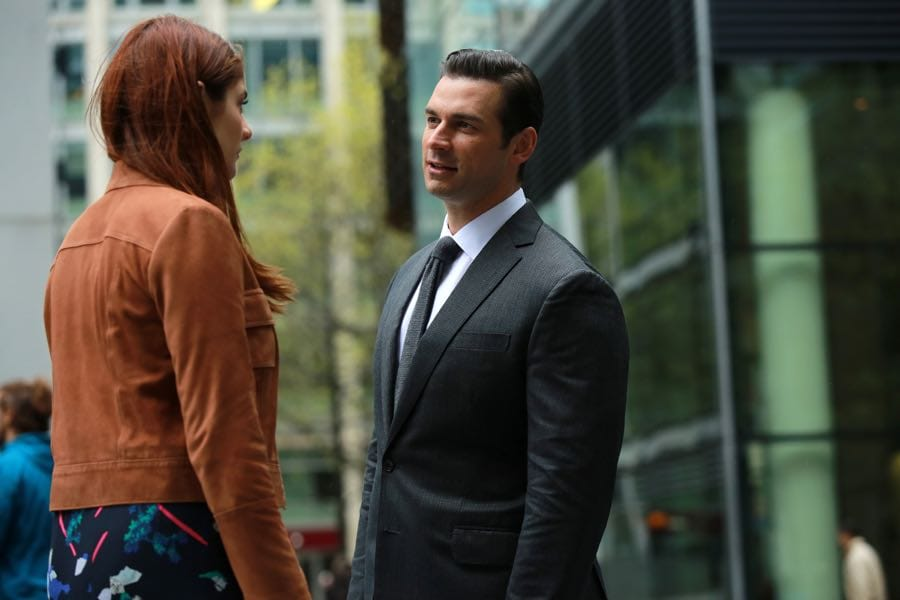 """GUILT - """"The Eye of the Needle"""" - Grace is rescued by a stranger who may have an ulterior motive on an all-new episode of """"Guilt,"""" airing MONDAY, JULY 18 (9:00 - 10:00 p.m. EDT), on Freeform. (Freeform/Angus Young) EMILY TREMAINE, CRISTIAN SOLIMENO"""