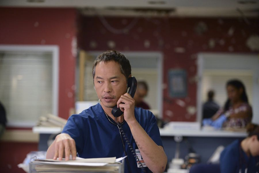 "THE NIGHT SHIFT -- ""Unexpected"" Episode 309 -- Pictured: Ken Leung as Dr. Topher Zia -- (Photo by: Ursula Coyote/NBC)"