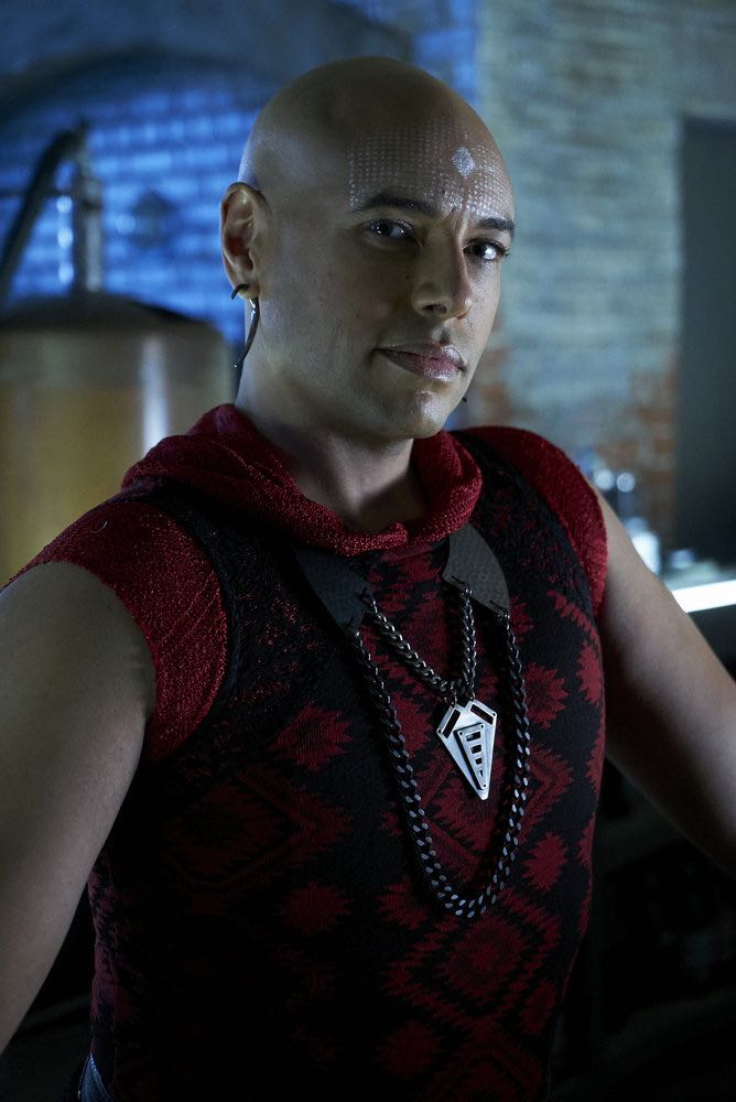 """KILLJOYS -- """"Schooled"""" Episode 204 -- Pictured: Thom Allison as Pree -- (Photo by: Steve Wilkie/Syfy/Killjoys II Productions Limited)"""