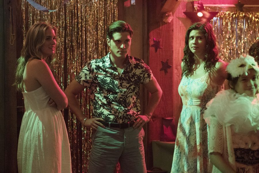 """DEAD OF SUMMER - """"Modern Love"""" - The annual masquerade ball sets the stage for intrigue and danger in """"Modern Love,"""" an all-new episode of """"Dead of Summer,"""" airing TUESDAY, JULY 19 (9:00 - 10:00 p.m. EDT), on Freeform. (Freeform/Katie Yu) ELIZABETH LAIL, RONEN RUBINSTEIN, AMBER CONEY"""