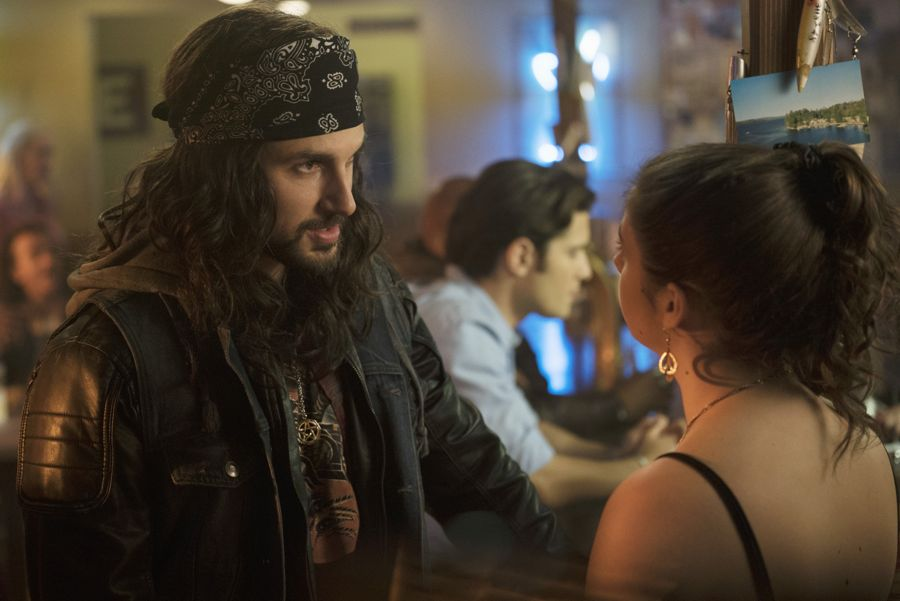 """DEAD OF SUMMER - """"Mix Tape"""" - A night off duty for some of the counselors provides welcome opportunities for romance, but could end on a darker note in """"Mix Tape,"""" an all-new episode of """"Dead of Summer,"""" airing TUESDAY, JULY 12 (9:00 - 10:00 p.m. EDT), on Freeform. - (Freeform/ Katie Yu) ANDREW J. WEST, AMBER CONEY"""