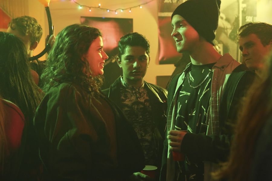 """DEAD OF SUMMER - """"Mix Tape"""" - A night off duty for some of the counselors provides welcome opportunities for romance, but could end on a darker note in """"Mix Tape,"""" an all-new episode of """"Dead of Summer,"""" airing TUESDAY, JULY 12 (9:00 - 10:00 p.m. EDT), on Freeform. (Freeform/Jack Rowand) AMBER CONEY, MARK INDELICATO, JOHN C. MACDONALD, HARRISON MACDONALD"""