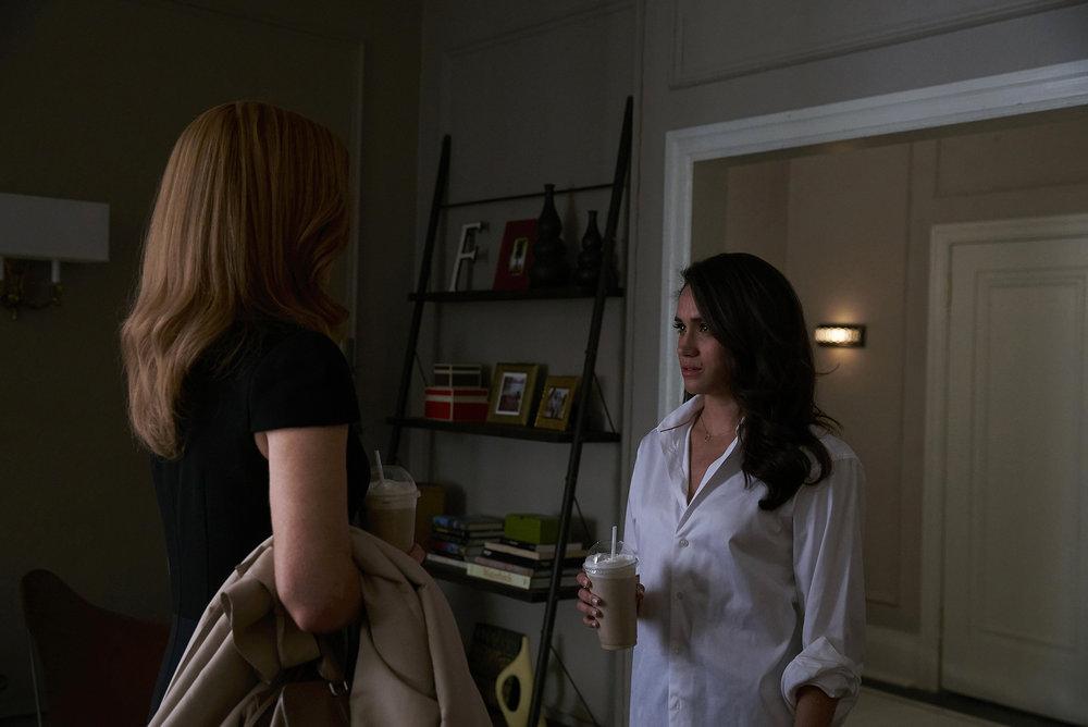 "SUITS --  ""Accounts Payable"" -- Pictured:  Meghan Markle as Rachel Zane -- (Photo by: Shane Mahood/USA Network)"