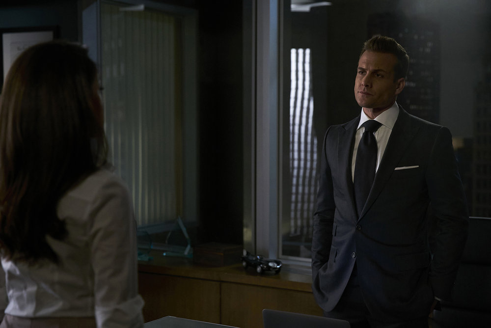 """SUITS --  """"Accounts Payable"""" -- Pictured:  (l-r) -- (Photo by: Shane Mahood/USA Network)"""