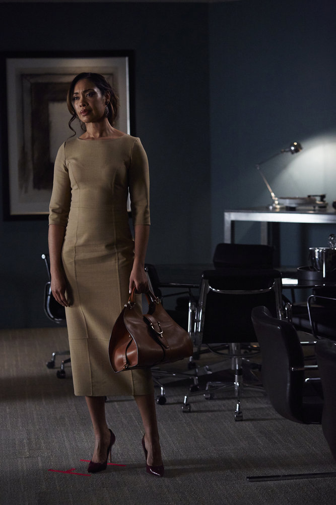 """SUITS --  """"Accounts Payable"""" -- Pictured: Gina Torres as Jessica Pearson -- (Photo by: Shane Mahood/USA Network)"""