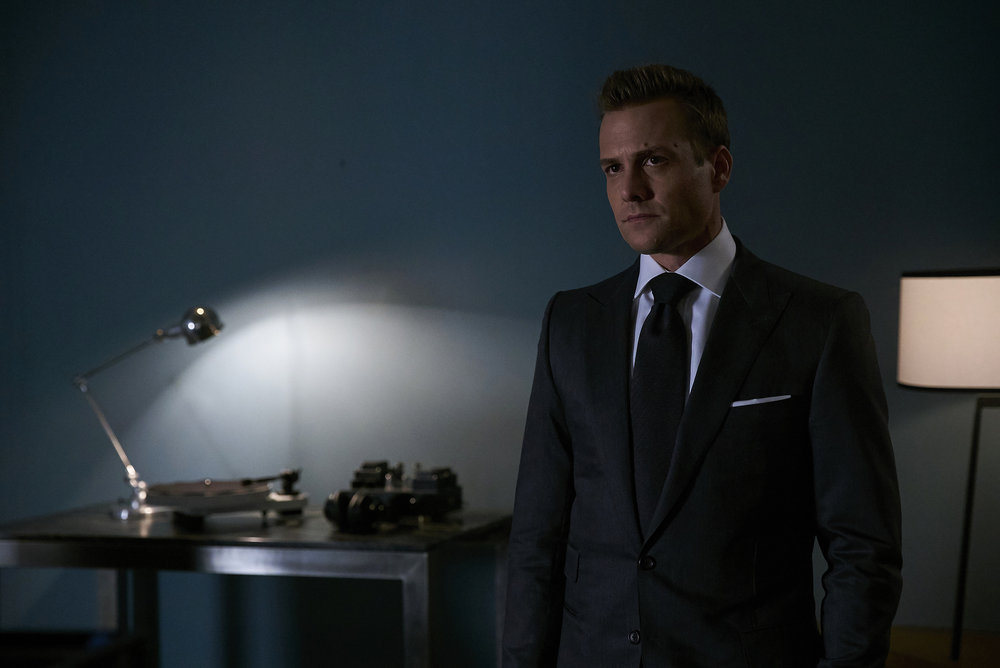 """SUITS --  """"Accounts Payable"""" -- Pictured:  Gabriel Macht as Harvey Specter -- (Photo by: Shane Mahood/USA Network)"""