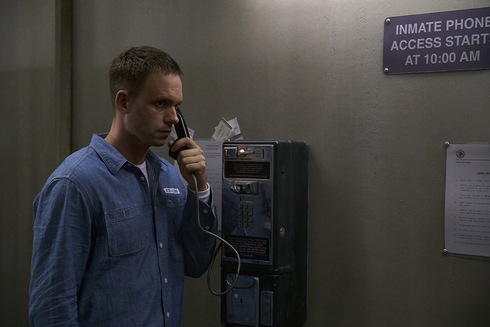 "SUITS --  ""Accounts Payable"" -- Pictured: Patrick J. Adams as Michael Ross -- (Photo by: Shane Mahood/USA Network)"
