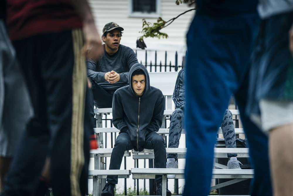 "MR. ROBOT -- ""eps2.0_unmasking.zip"" Episode 201 -- Pictured: Rami Malek as Eliot Alderson -- (Photo by: Michael Parmelee/USA Network)"