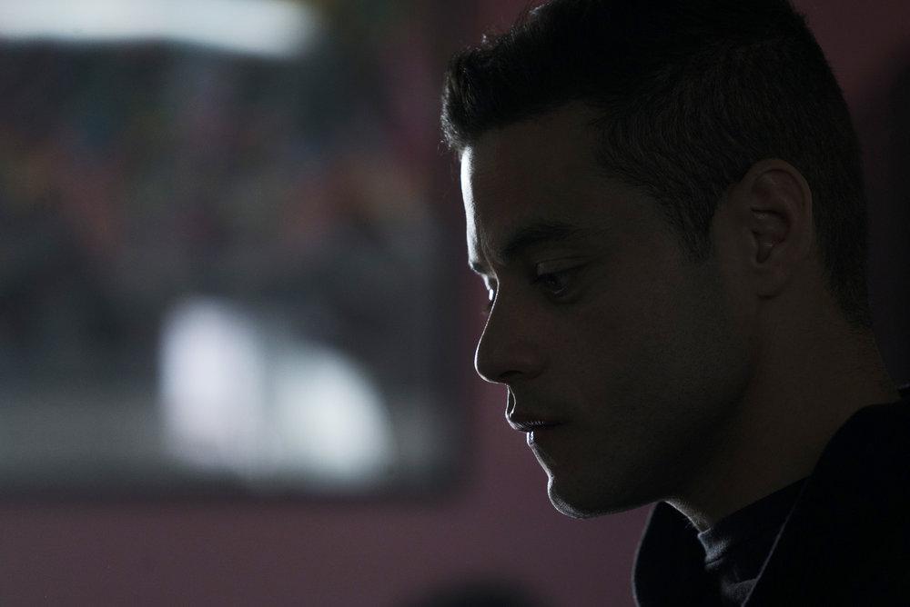 "MR. ROBOT -- ""eps2.0_unmasking.zip"" Episode 201 -- Pictured: Rami Malek as Eliot Alderson -- (Photo by: Peter Kramer/USA Network)"