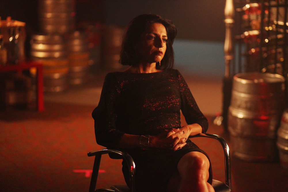 """QUEEN OF THE SOUTH -- """"Lirio de lo Valles"""" Episode 104 -- Pictured:  Veronica Falcon as Camila Vargas -- (Photo by: Bill Matlock/USA Network)"""