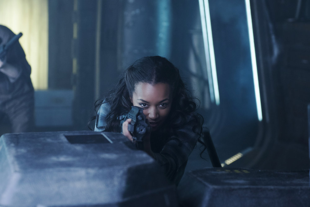 """DARK MATTER -- """" I've Seen The Other Side of You  """" Episode 203 -- Pictured: Melanie Liburd as Nyx -- (Photo by: Christos Kalohoridis/Prodigy Pictures/Syfy)"""
