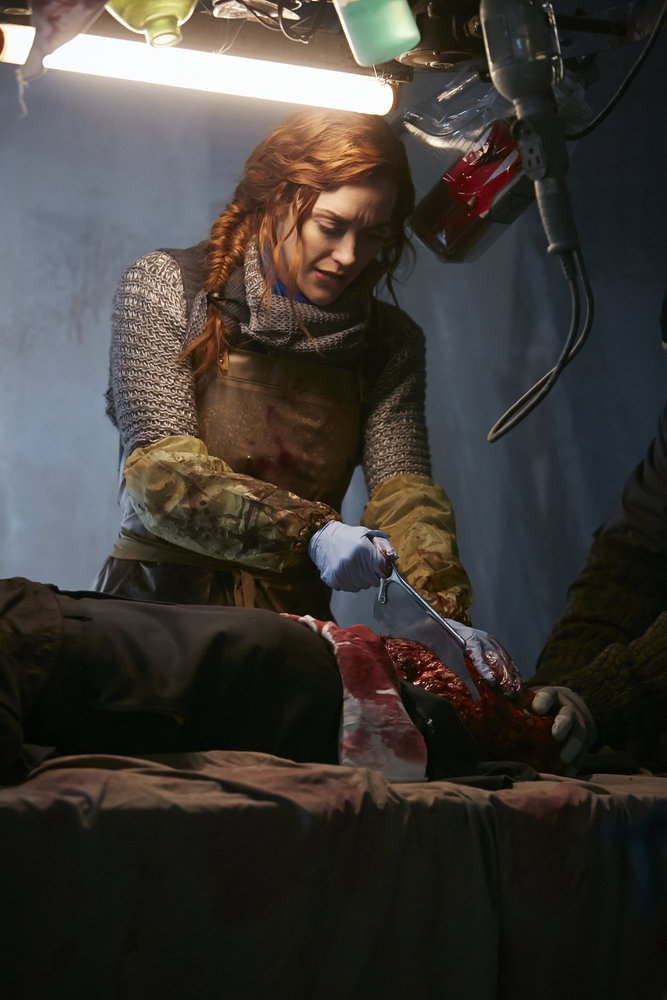 KILLJOYS -- Episode 202 -- Pictured: Sarah Power as Pawter -- (Photo by: Ian Watson/Syfy/Killjoys II Productions Limited)