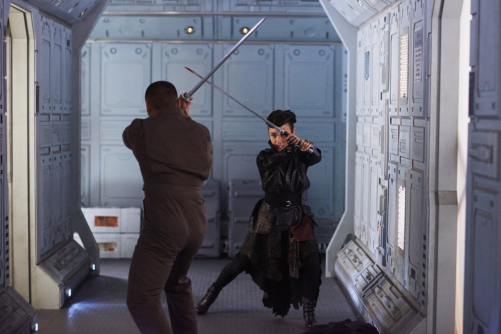 "DARK MATTER -- ""Kill Them All"" Episode 202 -- Pictured: Ellen Wong as Misaki -- (Photo by: Russ Martin/Prodigy Pictures/Syfy)"