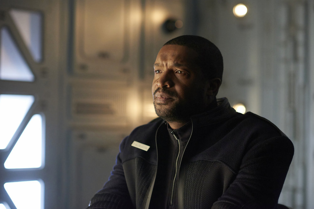 "DARK MATTER -- ""Kill Them All"" Episode 202 -- Pictured: Roger Cross as Six -- (Photo by: Russ Martin/Prodigy Pictures/Syfy)"