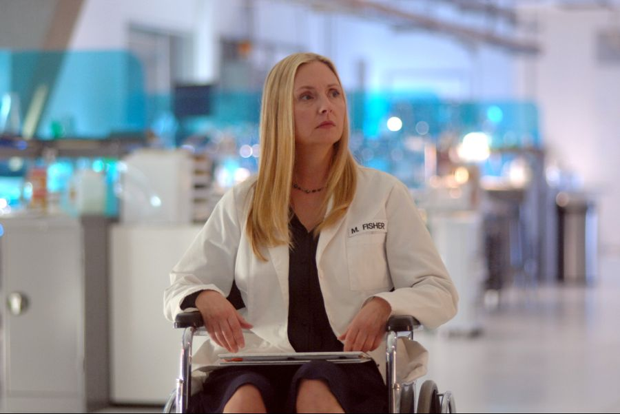"WAYWARD PINES: Hope Davis in the ""Time Will Tell"" episode of WAYWARD PINES airing Wednesday, July 6 (9:00-10:00 PM ET/PT) on FOX. ©2016 Fox Broadcasting Co. Cr: Sergei Bachlakov/FOX"