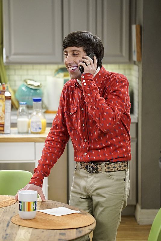 """The Conjugal Conjecture"" -- Pictured: Howard Wolowitz (Simon Helberg). After Sheldon's mother and Leonard's father share an evening together, everyone deals with an awkward morning the next day. Also, Penny's family arrives for the wedding ceremony, including her anxiety-ridden mother, Susan (Katey Sagal), and her drug dealing brother, Randall (Jack McBrayer), on the 10th season premiere of THE BIG BANG THEORY, Monday, Sept. 19 (8:00-8:30 PM, ET/PT), on the CBS Television Network. Dean Norris guest stars as Colonel Williams, an Air Force Representative from the Department of Materiel Command. Christine Baranski, Laurie Metcalf, Judd Hirsch and Keith Carradine return. Photo: Monty Brinton/Warner Bros. Entertainment Inc. © 2016 WBEI. All rights reserved."