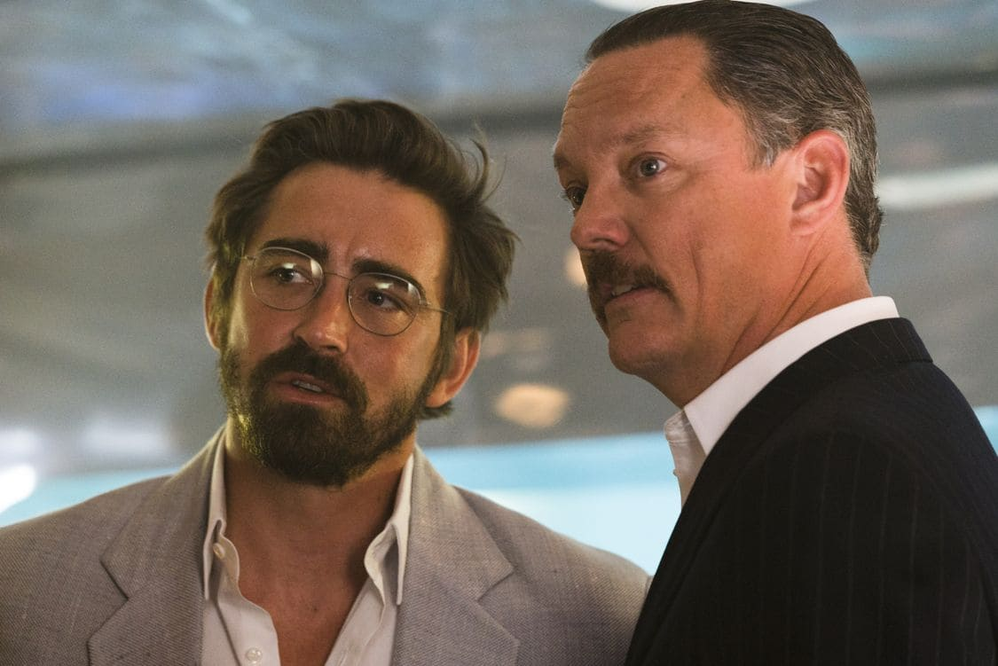Lee Pace as Joe MacMillan, Matthew Lillard as Ken Diebold - Halt and Catch Fire _ Season 3, Episode 4  - Photo Credit: Tina Rowden/AMC