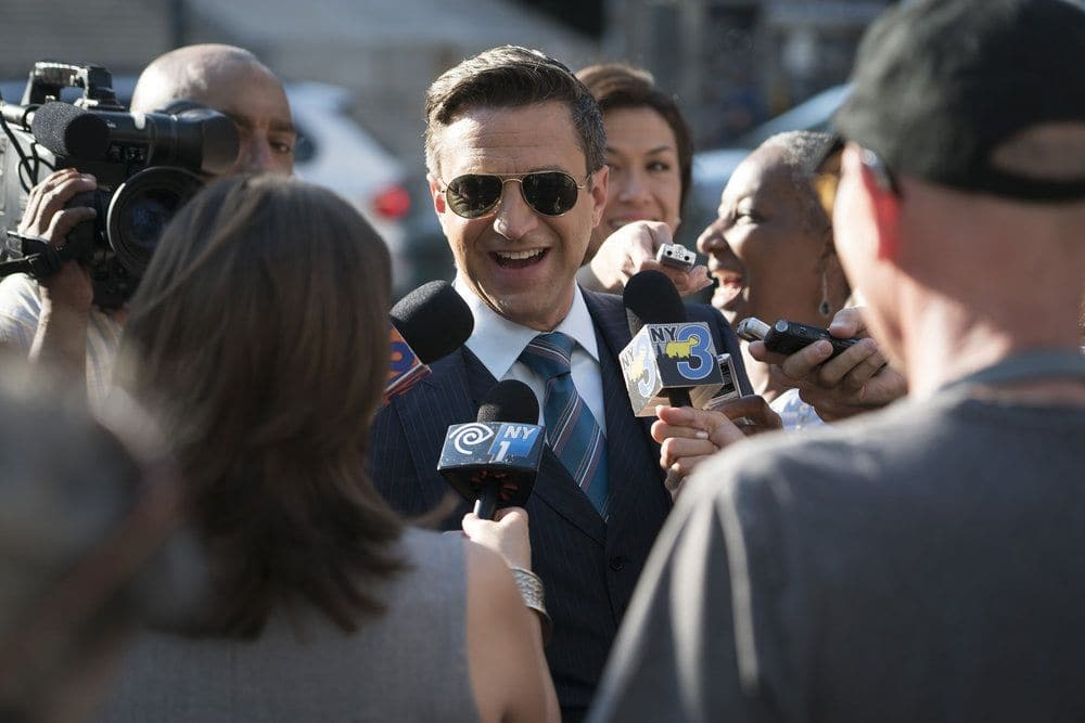 "LAW & ORDER: SPECIAL VICTIMS UNIT -- ""Terrorized"" Episode 1801 -- Pictured: Raul Esparza as A.D.A. Rafael Barba -- (Photo by: Peter Kramer/NBC)"