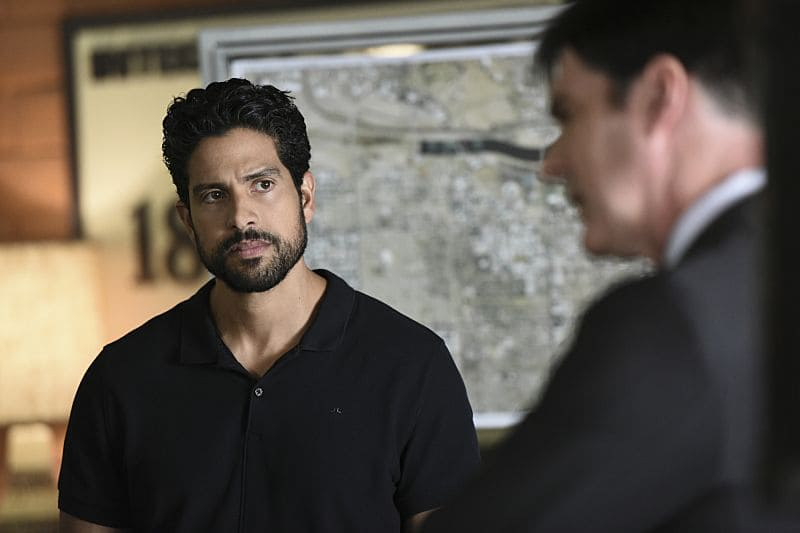 """""""The Crimson King"""" -- Agent Luke Alvez (Adam Rodriguez) joins the BAU team, which is tasked with capturing a killer who escaped prison with 13 other convicts at the end of last season, on the 12th season premiere of CRIMINAL MINDS, Wednesday, Sept. 28 (9:00-10:00 PM, ET/PT), on the CBS Television Network. Pictured: Adam Rodriguez (Luke Alvez) Photo: Eddy Chen/CBS ©2016 CBS Broadcasting, Inc. All Rights Reserved"""