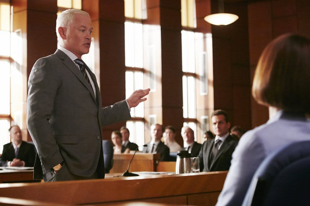 """SUITS -- """"Borrowed Time"""" Episode 608 -- Pictured: Neal McDonough as Sean Cahill -- (Photo by: Ian Watson/USA Network)"""