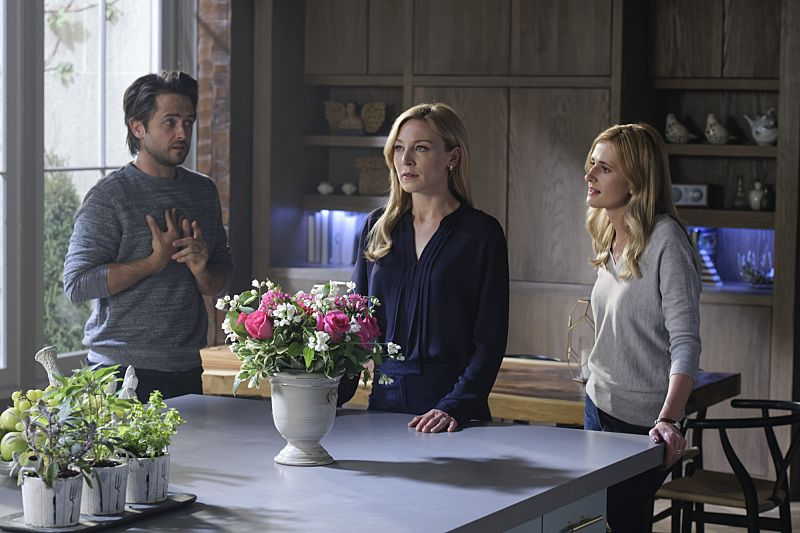 """""""The Veteran in a New Field"""" - The city is in a panic after the SBK's accomplice strikes again. As Alison enlists Brady's help to clear her name and find the real culprit, Tessa suspects that Madeline knows more than she's letting on and Cam is forced to make a decision about Sophie's custody of Jack, on AMERICAN GOTHIC, Wednesday, August 24 (10:00-11:00PM, ET/PT), on the CBS Television Network. Pictured: Justin Chatwin (Cam Hawthorne), Juliet Rylance (Alison Hawthorne-Price), Megan Ketch (Tessa Ross). Photo: Ben Mark Holzberg/CBS ©2016 CBS Broadcasting, Inc. All Rights Reserved."""