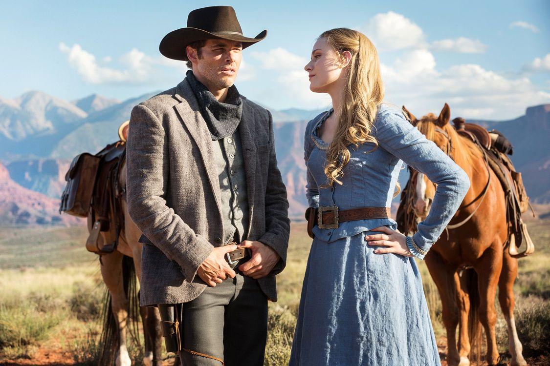James Marsden as Teddy and Evan Rachel Wood as Dolores Abernathy ( Photo: John P. Johnson/HBO)