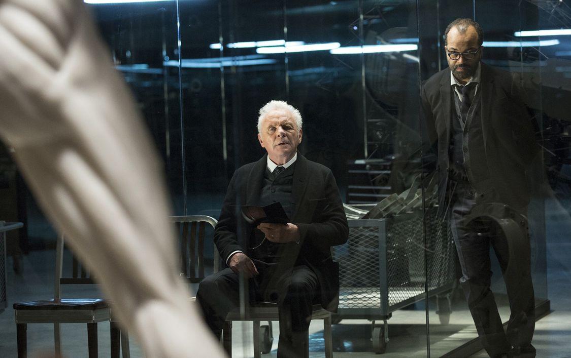 Anthony Hopkins as Dr. Robert Ford and Jeffrey Wright as Bernard Lowe ( Photo: John P. Johnson/HBO)
