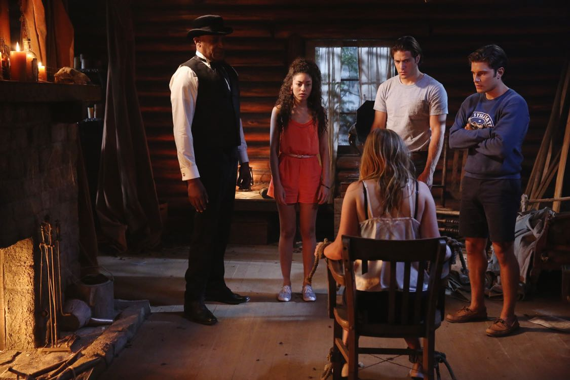 """DEAD OF SUMMER - """"Home Sweet Home"""" - The counselors confront the evil that lurks in the lake of Camp Stillwater in """"Home Sweet Home,"""" an all-new episode of """"Dead of Summer,"""" airing TUESDAY, AUGUST 23 (9:00 - 10:00 p.m. EDT), on Freeform, the new name for ABC Family. (Freeform/Jack Rowand) TONY TODD, PAULINA SINGER, ALBERTO FREZZA, RONEN RUBINSTEIN"""