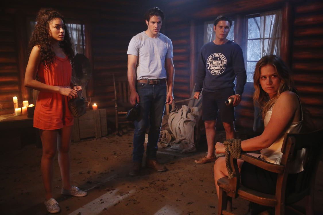 """DEAD OF SUMMER - """"Home Sweet Home"""" - The counselors confront the evil that lurks in the lake of Camp Stillwater in """"Home Sweet Home,"""" an all-new episode of """"Dead of Summer,"""" airing TUESDAY, AUGUST 23 (9:00 - 10:00 p.m. EDT), on Freeform, the new name for ABC Family. (Freeform/Jack Rowand) PAULINA SINGER, ALBERTO FREZZA, RONEN RUBINSTEIN, ELIZABETH LAIL"""