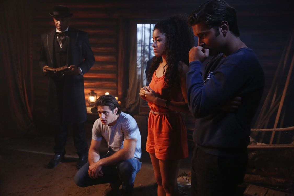 """DEAD OF SUMMER - """"Home Sweet Home"""" - The counselors confront the evil that lurks in the lake of Camp Stillwater in """"Home Sweet Home,"""" an all-new episode of """"Dead of Summer,"""" airing TUESDAY, AUGUST 23 (9:00 - 10:00 p.m. EDT), on Freeform, the new name for ABC Family. (Freeform/Jack Rowand) TONY TODD, PAULINA SINGER, RONEN RUBINSTEIN"""