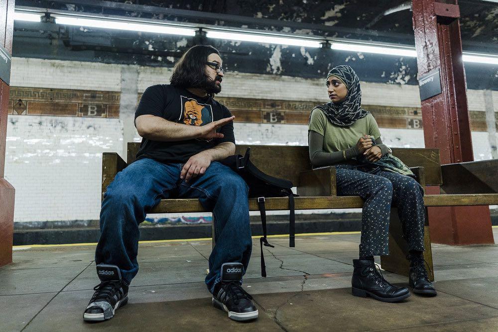 "MR. ROBOT -- ""eps2.6_succ3ss0r.p12"" Episode 208 -- Pictured: (l-r) Azar Khan as Mobley, Sunita Mani as Trenton -- (Photo by: Michael Parmelee/USA Network)"