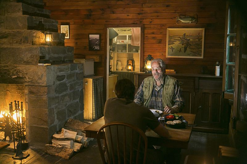 """The Oxbow"" - Key Hawthorne family secrets are revealed when Garrett is forced to reflect on his 14 years of solitude in the woods.  Also, Alison turns the screws on a local reporter, with shocking results, on AMERICAN GOTHIC, Wednesday, August 17 (10:00-11:00 PM, ET/PT), on the CBS Television Network. Pictured: Antony Starr as Garrett Hawthorne. M.C. Gainey as Al Jenkins.  Photo:  Iden Ford/CBS ©2016 CBS Broadcasting, Inc. All Rights Reserved."