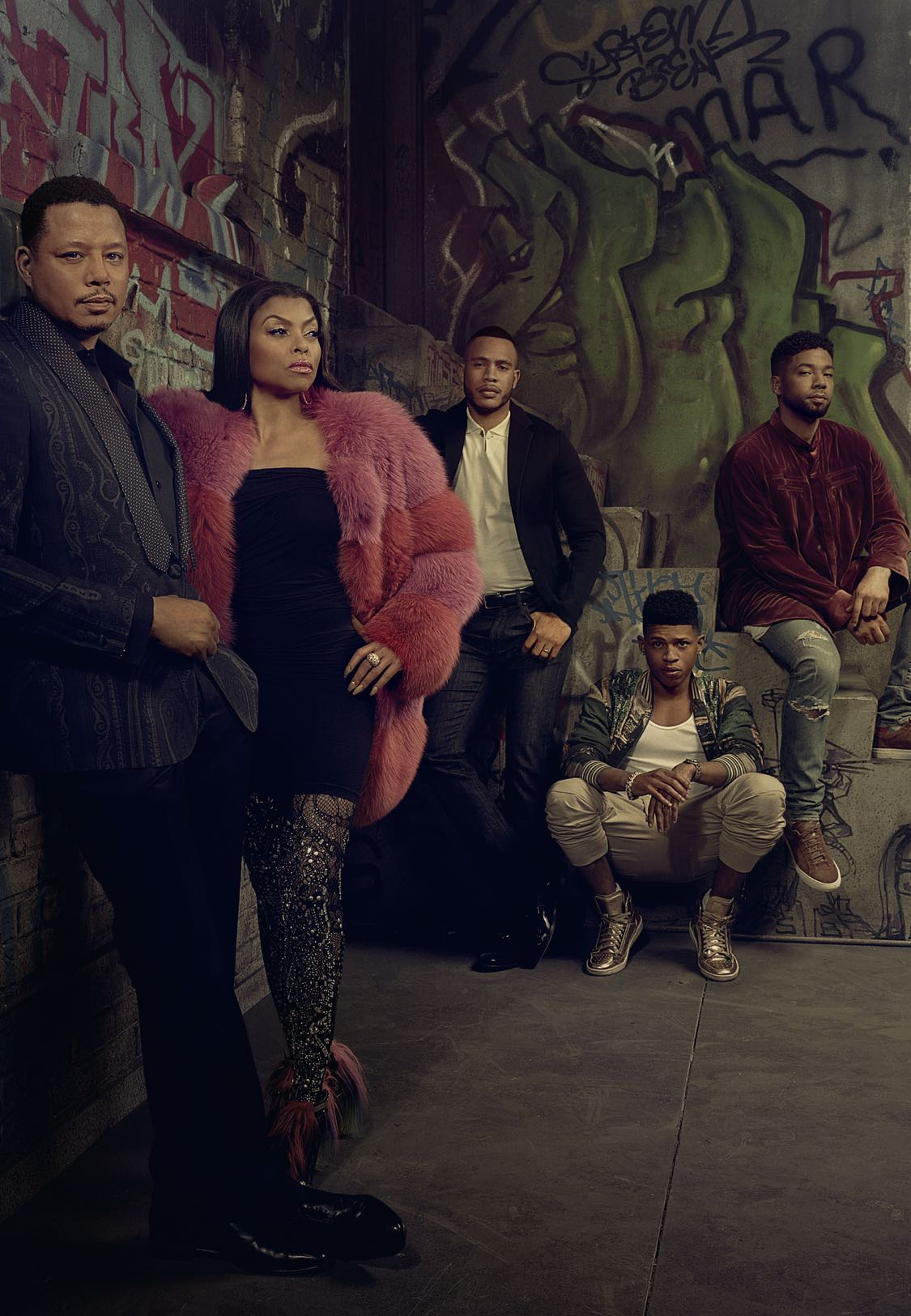 EMPIRE: Pictured L-R: Terrence Howard, Taraji P. Henson, Trai Byers, Bryshere Gray and Jussie Smollett on EMPIRE premiering Wednesday, Sept. 21 (9:00-10:00 PM ET/PT) on FOX. ©2016 Fox Broadcasting Co. CR: Michael Lavine/FOX