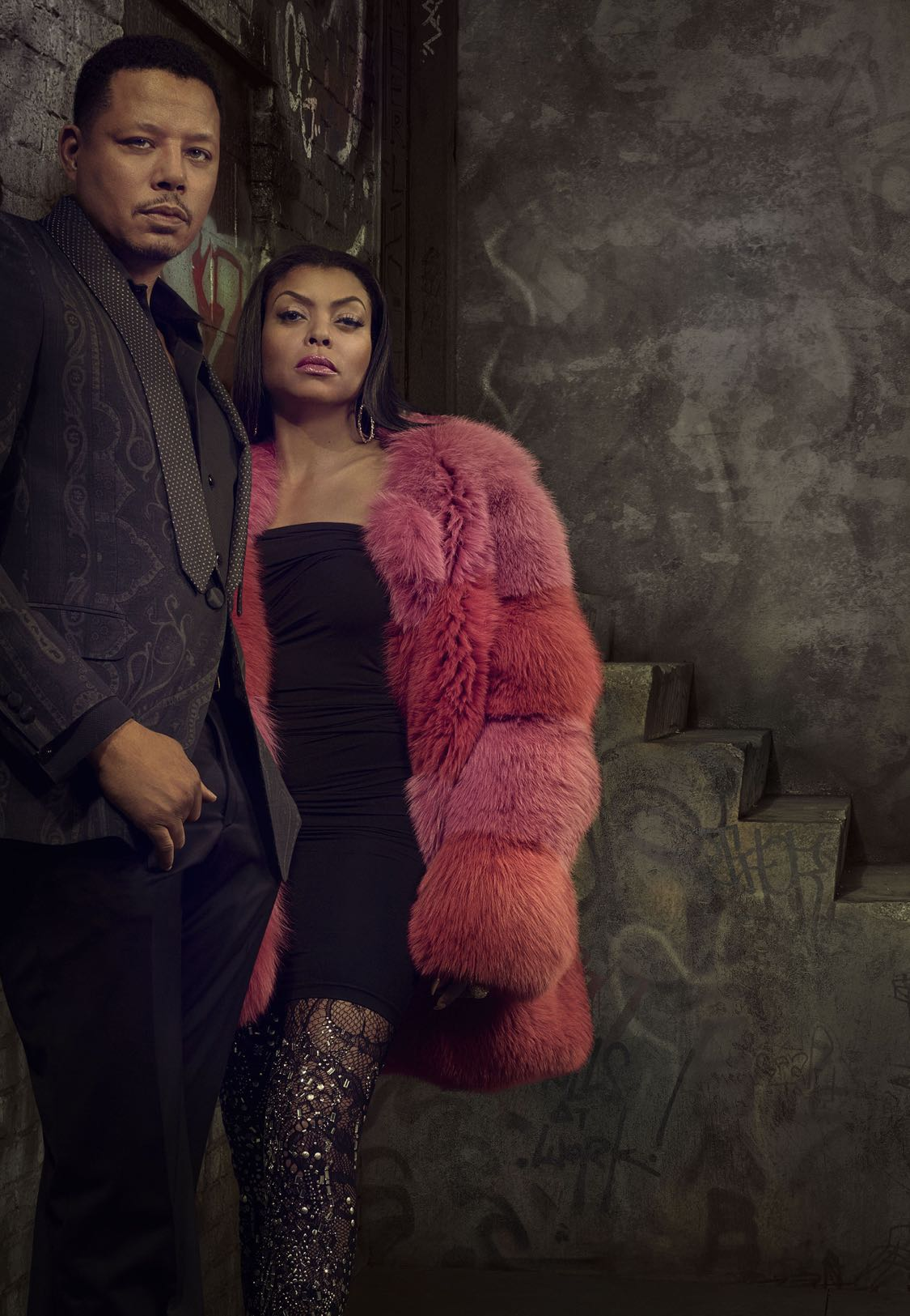 EMPIRE: Pictured L-R: Terrence Howard and Taraji P. Henson on EMPIRE premiering Wednesday, Sept. 21 (9:00-10:00 PM ET/PT) on FOX. ©2016 Fox Broadcasting Co. CR: Michael Lavine/FOX