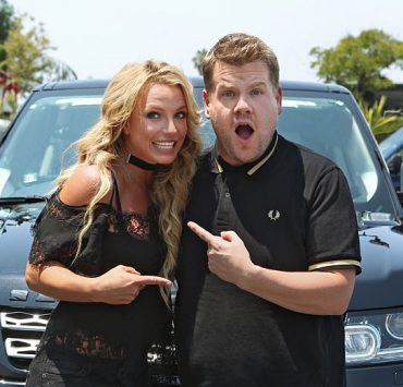 """Britney Spears joins James Corden for Carpool Karaoke on """"The Late Late Show with James Corden,"""" Airing Thursday, August 25th 2016, on The CBS Television Network. Photo: Sonja Flemming/CBS ©2016 CBS Broadcasting, Inc. All Rights Reserved"""