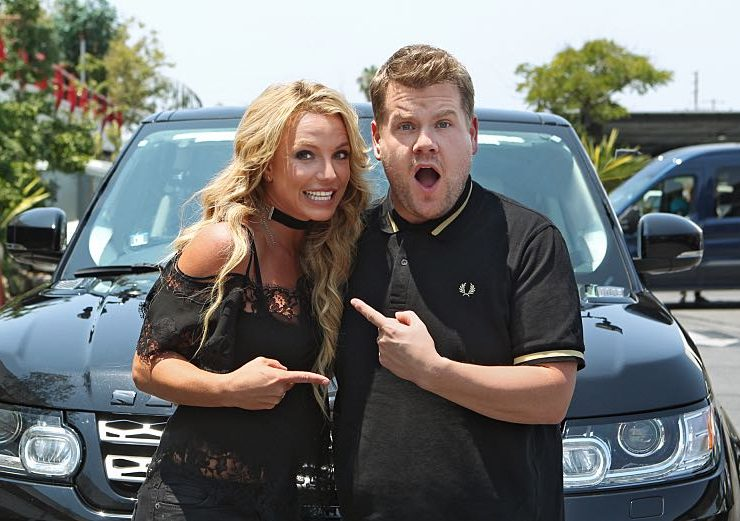 "Britney Spears joins James Corden for Carpool Karaoke on ""The Late Late Show with James Corden,"" Airing Thursday, August 25th 2016, on The CBS Television Network. Photo: Sonja Flemming/CBS ©2016 CBS Broadcasting, Inc. All Rights Reserved"