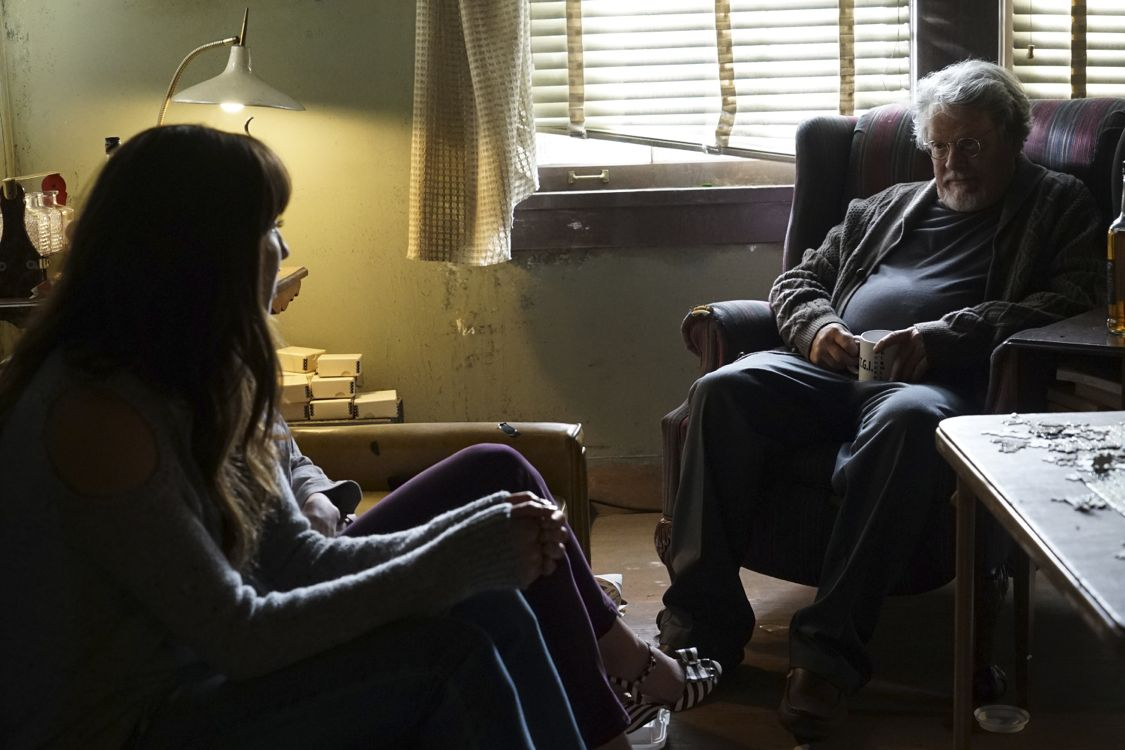 """PRETTY LITTLE LIARS - """"Exes and OMGs"""" - Emily's ex Paige unexpectedly returns to Rosewood, as does the ominous Mrs. Grunwald, in """"Exes and OMGs,"""" an all-new episode of Freeform's hit original series """"Pretty Little Liars,"""" airing TUESDAY, AUGUST 16 (8:00 - 9:00 p.m. EDT), the new name for ABC Family. (Freeform/Byron Cohen) TROIAN BELLISARIO, KEITH SZARABAJKA"""