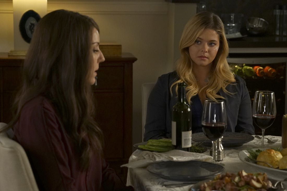"PRETTY LITTLE LIARS - ""Original G'A'ngsters"" - Coming back into the picture, Jason visits Rosewood to caution Ali about being too trusting of Mary in ""Original G'A'ngsters,"" an all-new episode of Freeform's hit original series ""Pretty Little Liars,"" airing TUESDAY, AUGUST 9 (8:00 - 9:00 p.m. EDT). (Freeform/Byron Cohen) ANDREA PARKER, SASHA PIETERSE"