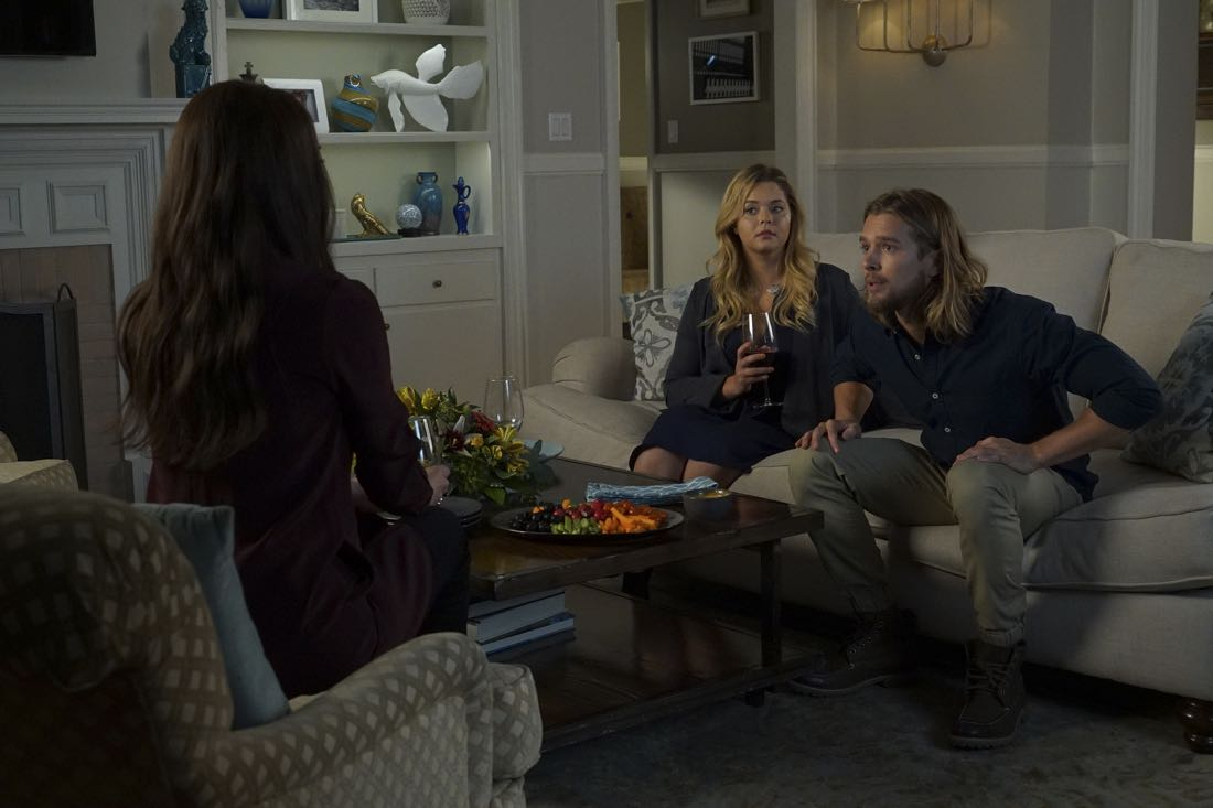 "PRETTY LITTLE LIARS - ""Original G'A'ngsters"" - Coming back into the picture, Jason visits Rosewood to caution Ali about being too trusting of Mary in ""Original G'A'ngsters,"" an all-new episode of Freeform's hit original series ""Pretty Little Liars,"" airing TUESDAY, AUGUST 9 (8:00 - 9:00 p.m. EDT). (Freeform/Byron Cohen) ANDREA PARKER, SASHA PIETERSE, DREW VAN ACKER"