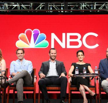 "NBCUNIVERSAL EVENTS -- NBCUniversal Summer Press Tour, August 2, 2016 -- NBC's ""Blindspot"" Panel -- Pictured: (l-r) Sarah Schechter, Executive Producer, Greg Berlanti, Executive Producer, Sullivan Stapleton, Archie Panjabi, Martin Gero, Executive Producer -- (Photo by: Evans Vestal Ward/NBCUniversal)"