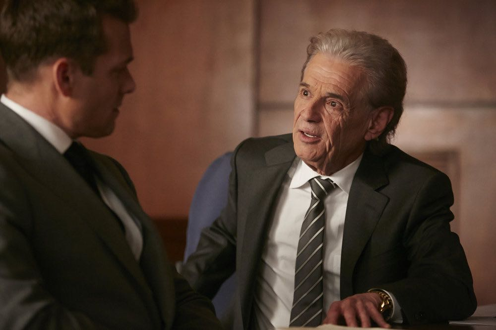 "SUITS -- ""Trust"" Episode 605 -- Pictured: Alan Rosenberg as William Sutter -- (Photo by: Ian Watson/USA Network)"