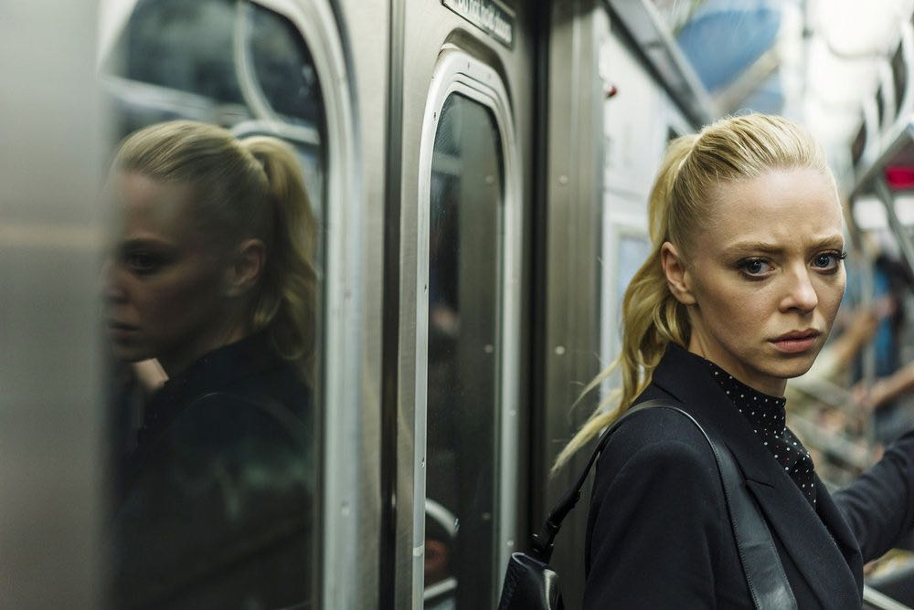 """MR. ROBOT -- """"eps2.3_logic%u2010b0mb.hc"""" Episode 205 -- Pictured: Portia Doubleday as Angela Moss -- (Photo by: Michael Parmelee/USA Network)"""