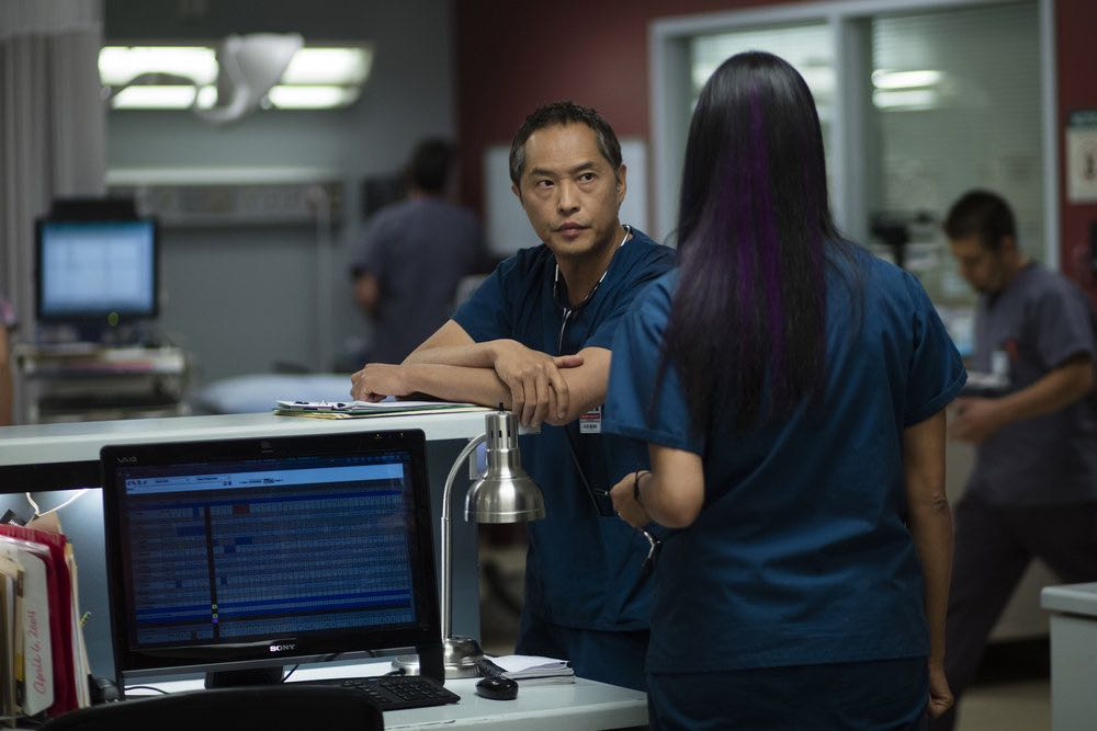 "THE NIGHT SHIFT-- ""Trust Issues"" Episode 311 -- Pictured: Ken Leung as Dr. Topher Zia -- (Photo by: Cathy Kanavy/NBC)"